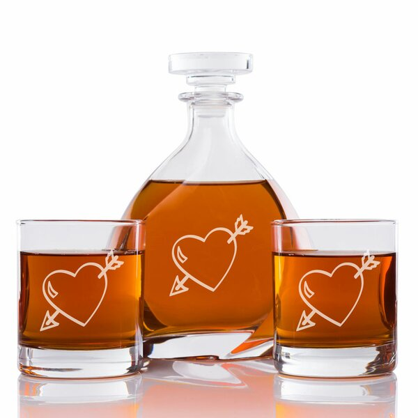 Love Struck Engraved 3 Piece Beverage Serving Set by East Urban Home