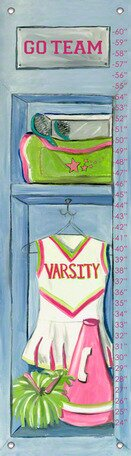Cheerleading Locker Growth Chart by Oopsy Daisy
