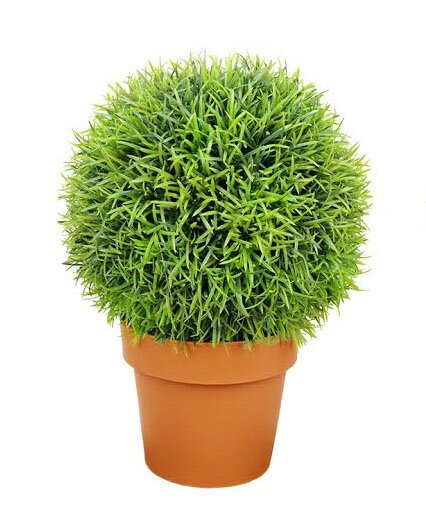 Two-Tone Artificial Pine Ball Topiary Tree in Pot by Northlight Seasonal
