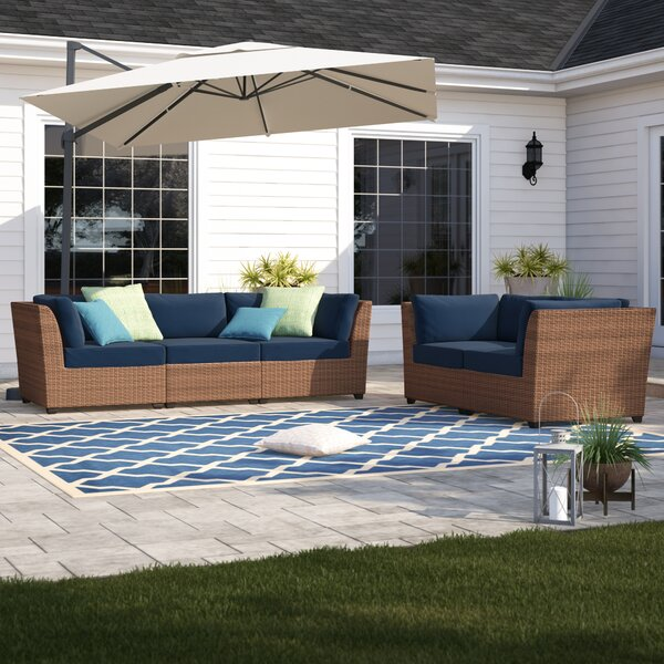 Waterbury 5 Piece Rattan Sofa Seating Group with Cushions by Sol 72 Outdoor