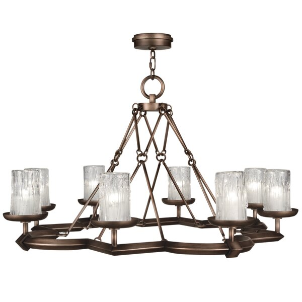 Liaison 8-Light Shaded Chandelier Geometric Chandelier By Fine Art Lamps