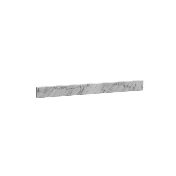 36.875 x 3.5 Marble Backsplash in Carrara White by