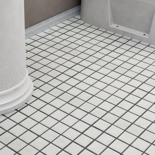 Dryas 2 x 2 Quad Porcelain Mosaic Tile in White by EliteTile