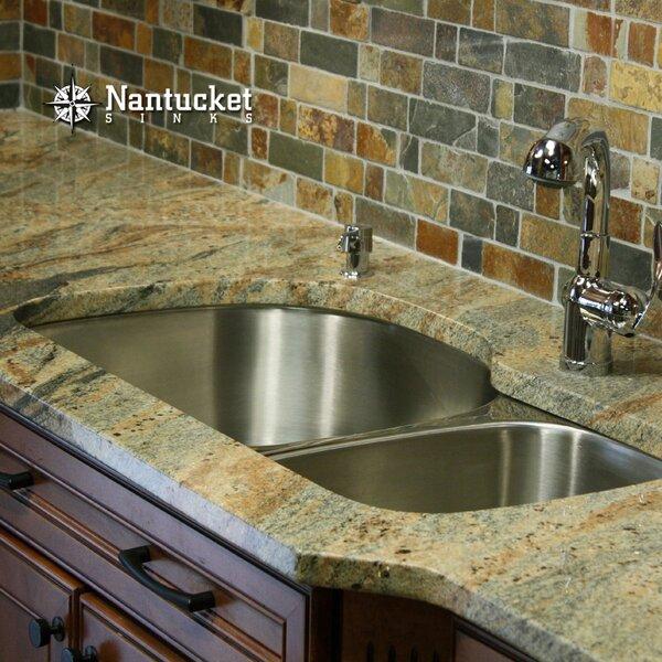 32 L x 21 W Undermount Kitchen Sink with Basket Strainer