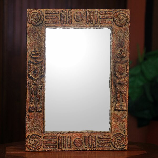 Worlasi Agbalenyo Handcrafted Rustic African Wall Mirror by Novica