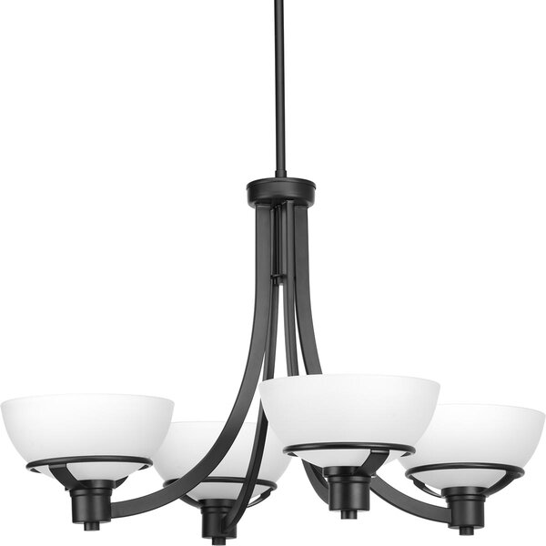 Mcdavid 4 - Light Shaded Classic / Traditional Chandelier by Ebern Designs Ebern Designs