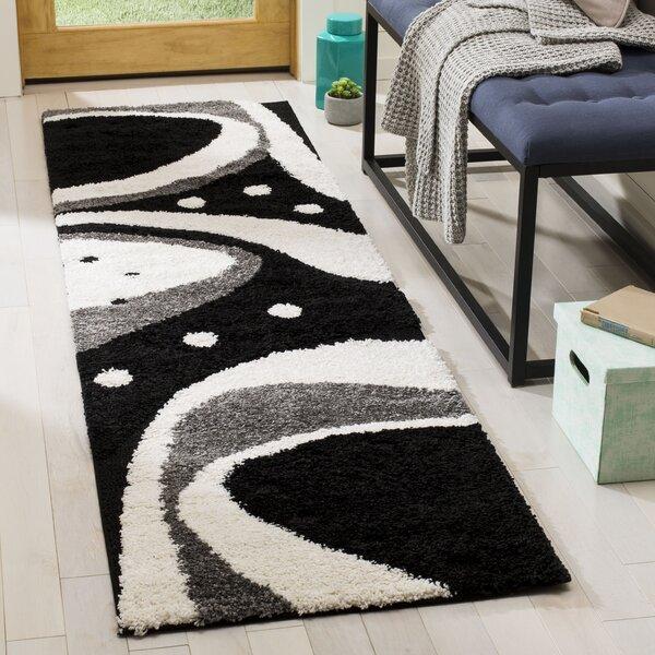Stacie Black/Ivory Area Rug by Ebern Designs