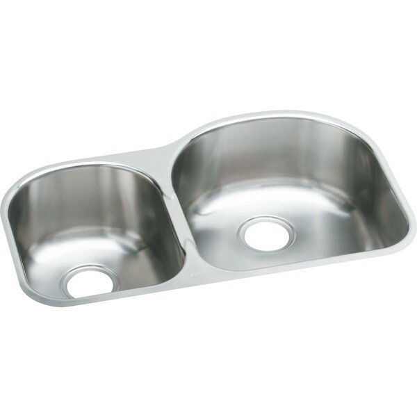 31.25 L x 20 W Double Basin Undermount Kitchen Sink by Elkay