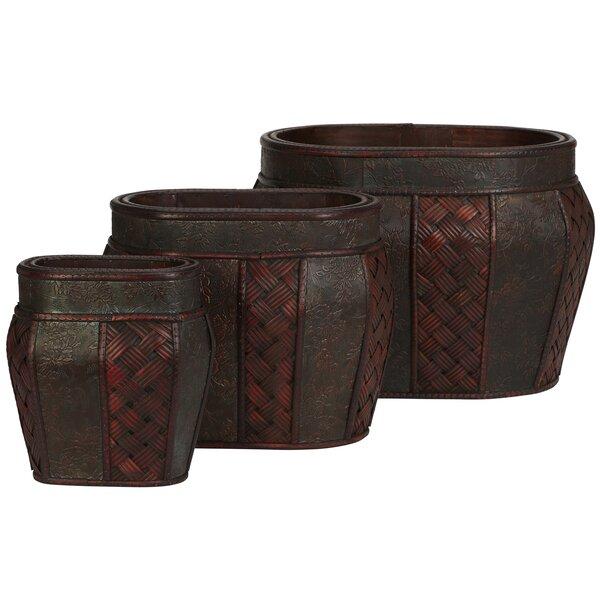 Pembroke Wood Pot Planter (Set of 3) by Bay Isle Home