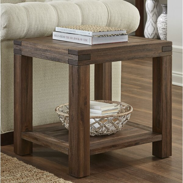 Olivier Acacia Wood End Table by Williston Forge