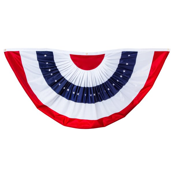 Patriotic American Nylon Bunting Flag by Evergreen Enterprises, Inc