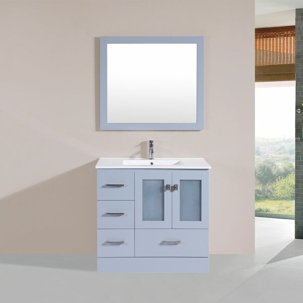 Lapoint 36 Single Modern Bathroom Left Side Cabinet Vanity Set by Latitude RunLapoint 36 Single Modern Bathroom Left Side Cabinet Vanity Set by Latitude Run