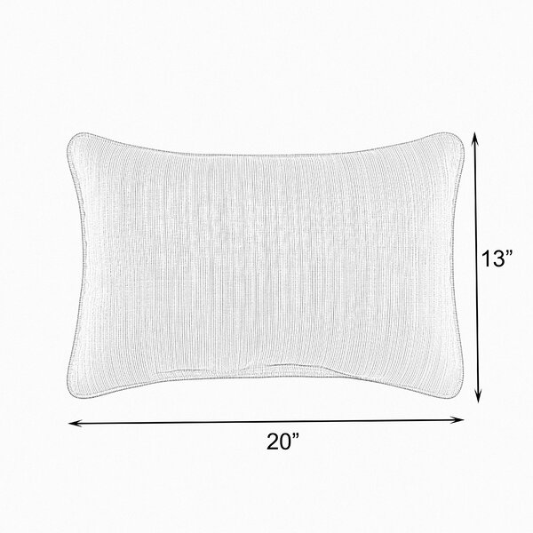 Holston Indoor/Outdoor Lumbar Pillow (Set of 2) by Highland Dunes
