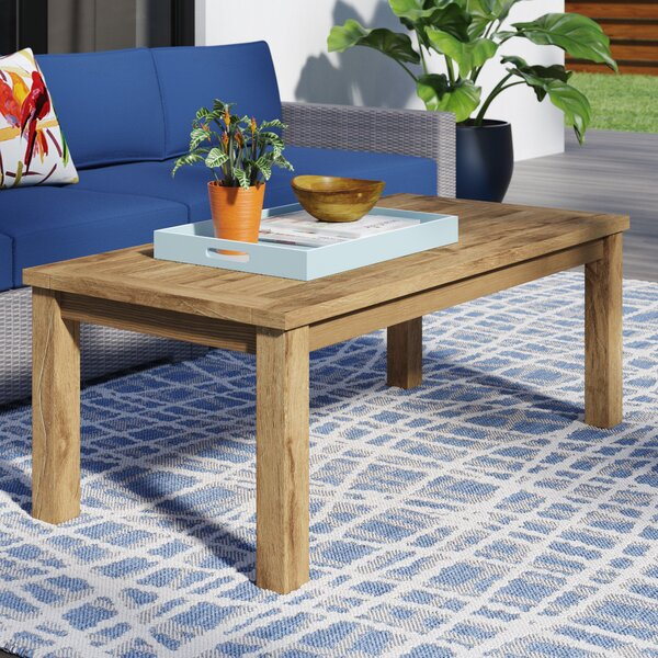 Elaina Solid Wood Coffee Table by Beachcrest Home