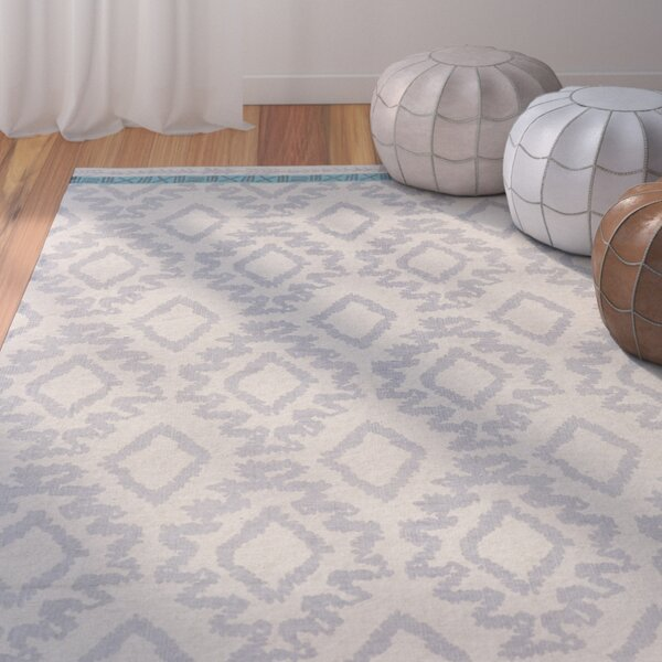 Kopstal Hand Woven Gray/Turquoise Area Rug by Bungalow Rose