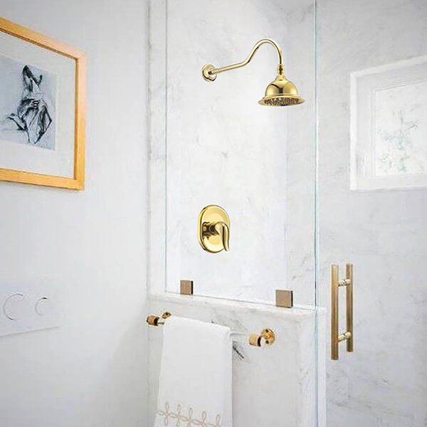 Rio Wall Mount Volume Control Complete Shower System With Rough-in Valve By FontanaShowers