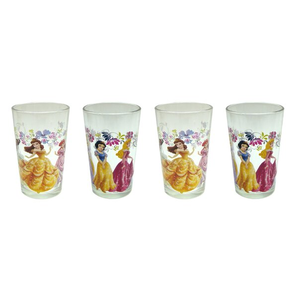 Disney 4 Piece 8 oz. New Princesses Juice Glass Set (Set of 4) by R Squared