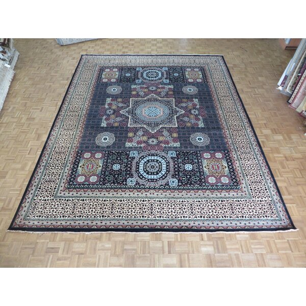 One-of-a-Kind Pagan Hand-Knotted Wool Black Area Rug by Bloomsbury Market
