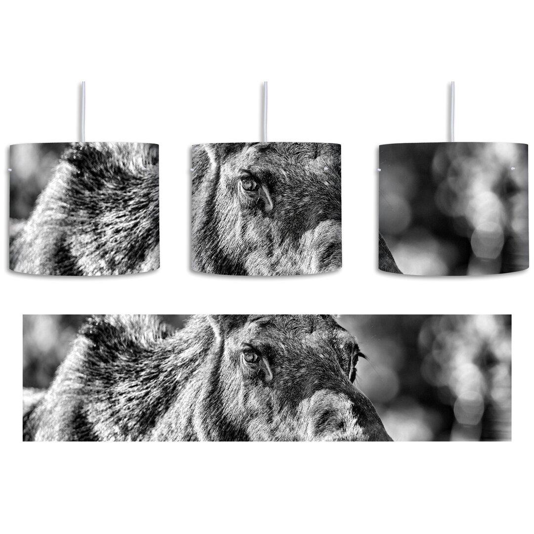 Beautiful Cow Elk in a Meadow 1 Light Drum Pendant