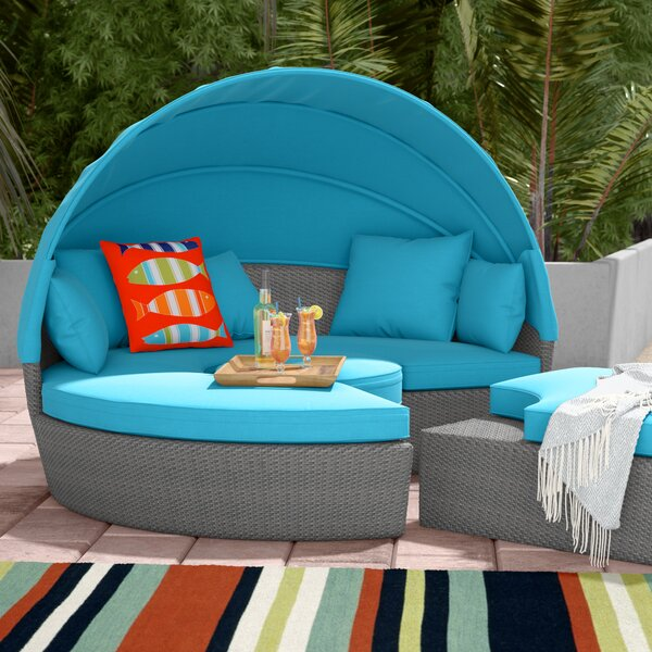 Churchill Luxurious Resort Style Daybed with Cushions by Beachcrest Home Beachcrest Home