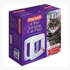 White Four-Way Cat Flap by PetSafe®