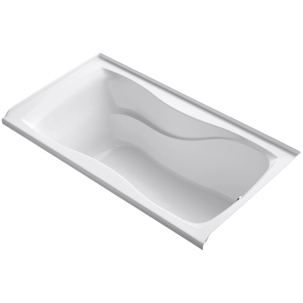 Hourglass Alcove 60 x 32 Soaking Bathtub by Kohler