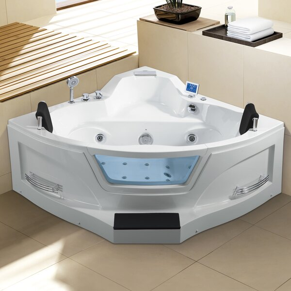 Ariel 61 x 61 Corner Whirlpool Bathtub by Ariel Bath