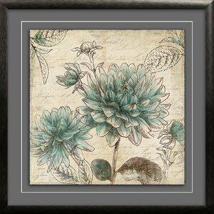 Blue Botanical I' Framed Graphic Art Print by Star Creations