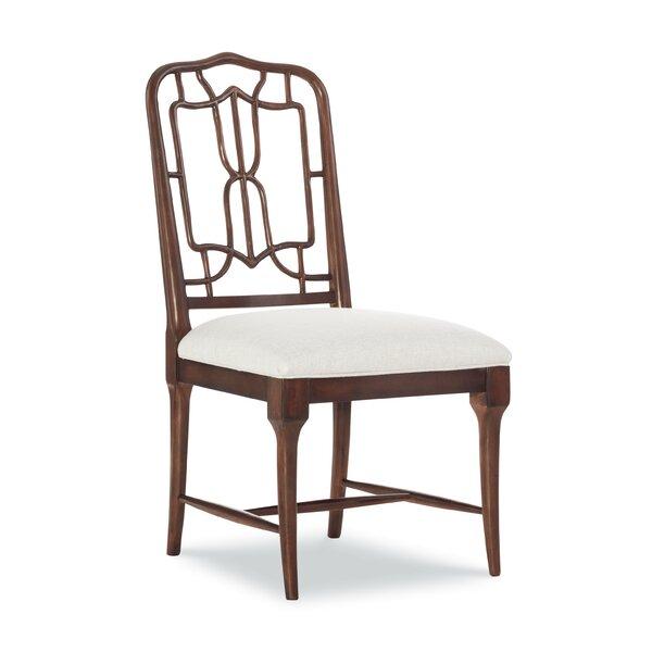 Serenity Fretwork Back Side Chair in Rich Brown (Set of 2) by Fine Furniture Design Fine Furniture Design