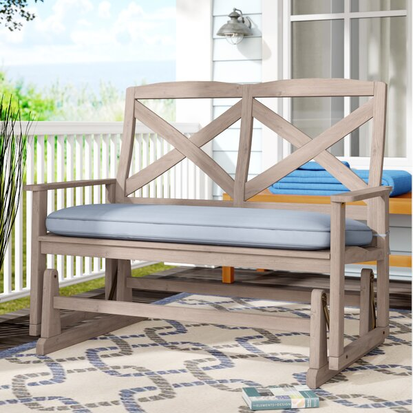 Englewood Glider Bench with Cushion by Beachcrest Home