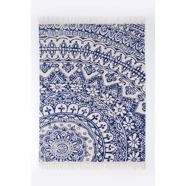Basant Blue Area Rug by Shiraleah