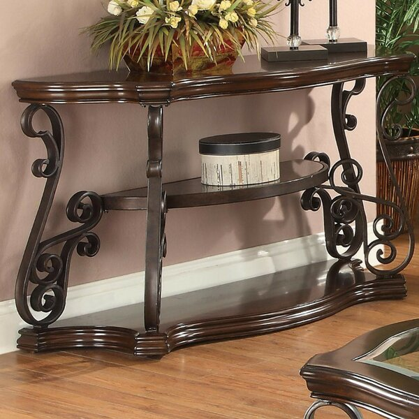 Gravitt Traditional Solid Console Table By Astoria Grand