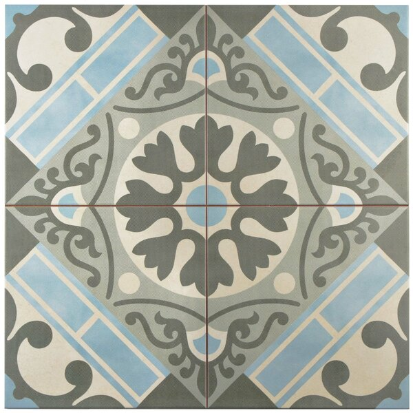 Evaso 17.63 x 17.63 Ceramic Field Tile in Azul by EliteTile