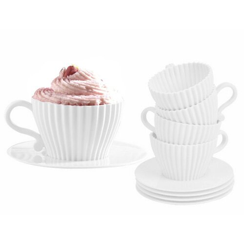 4 Piece Cupcake Pan with Saucer Set by Vandue Corporation