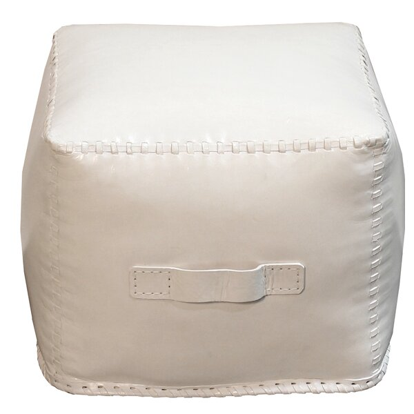 Hardt Leather Cube Ottoman By Ivy Bronx