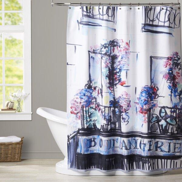 Delphine Boulangerie Palais Royal Shower Curtain by House of Hampton