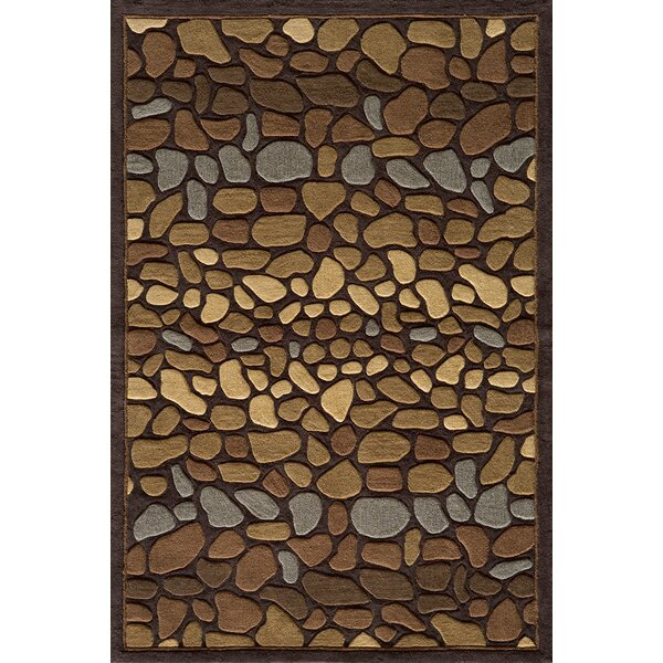 Baileyville Hand-Tufted Brown Area Rug by Loon Peak