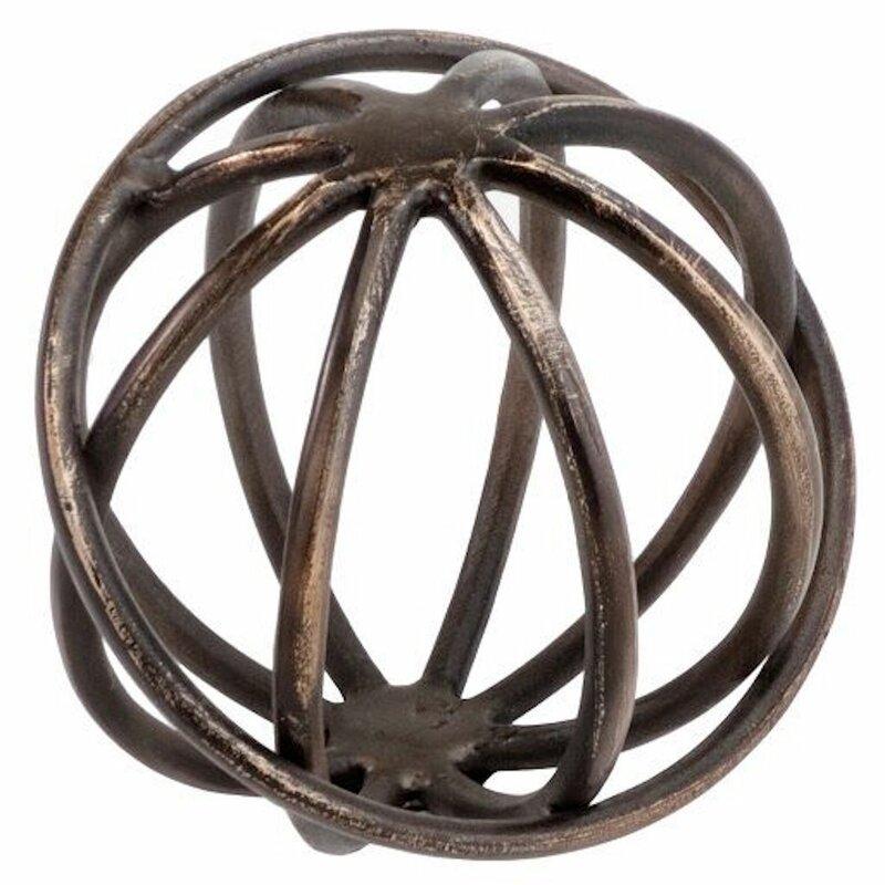 Bronze Giro Sphere Figurine