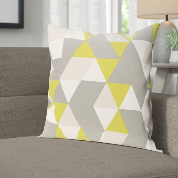 Arsdale Geometry Cotton Throw Pillow Cover by Langley Street