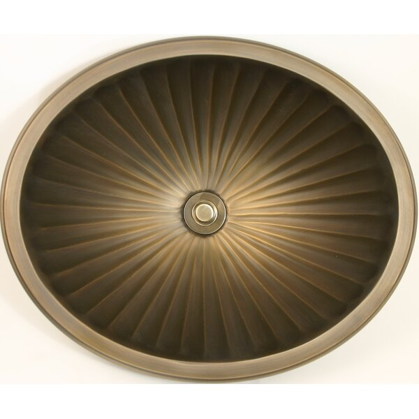 Bronze Metal Oval Drop-In Bathroom Sink by Linkasink