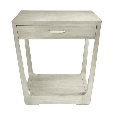 Floor Shelf End Table Storage Oyster Gray img