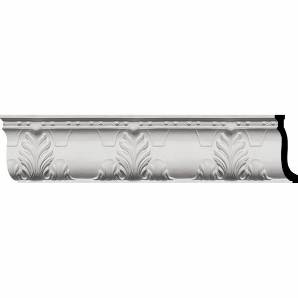 Alexandria Acanthus 9 1/4H x 96W Leaf and Ribbons Crown Moulding by Ekena Millwork