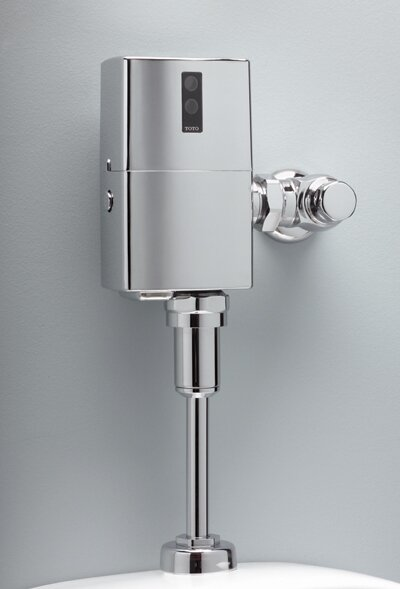 EcoPower Exposed Sensor Operated Automatic Flush Valve by Toto