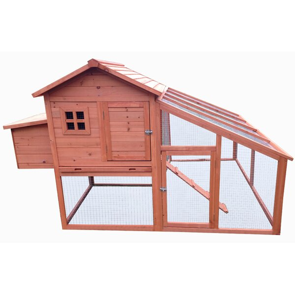 Fir Wood Hutch Chicken Coop with Roosting Bar by Neocraft My Pet Companion