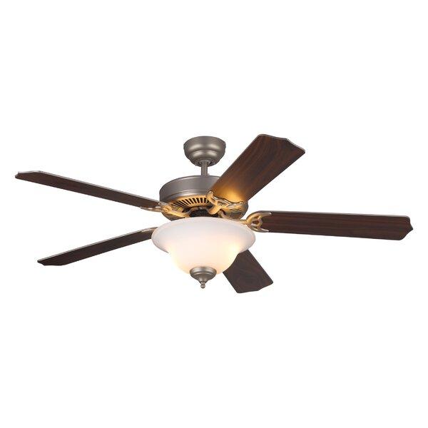 52 Beaudin 5 Blade Ceiling Fan by Fleur De Lis Living