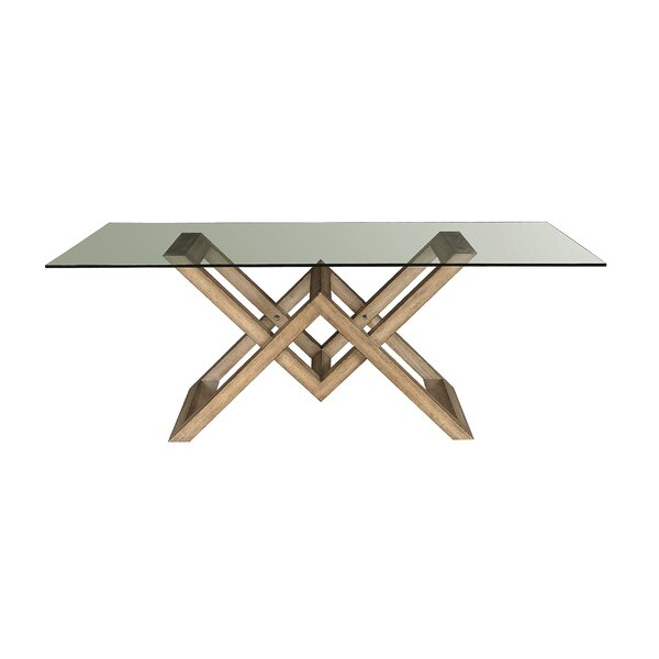 Aether Solid Wood Dining Table by Wrought Studio