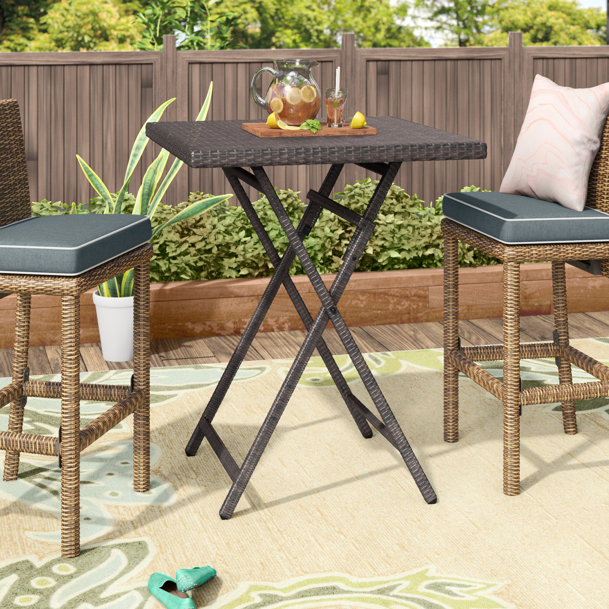 Charmant Latitude Run Will Outdoor Wicker Bistro Table U0026 Reviews | Wayfair