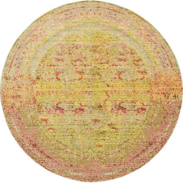 Danbury Yellow Area Rug by World Menagerie