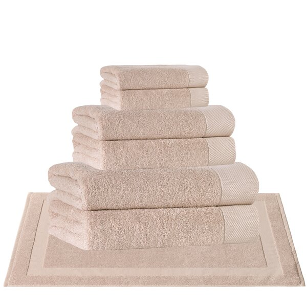 Caswell 8 Piece Turkish Cotton Towel Set by Eider & Ivory