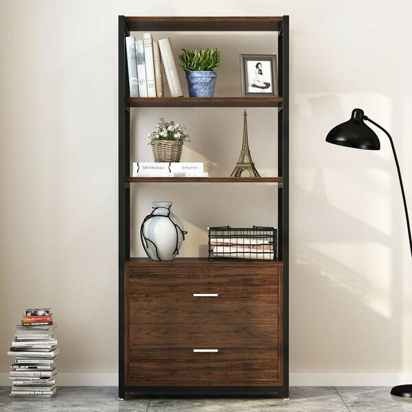 Forest Park 4-Tier Standard Bookcase by 17 Stories